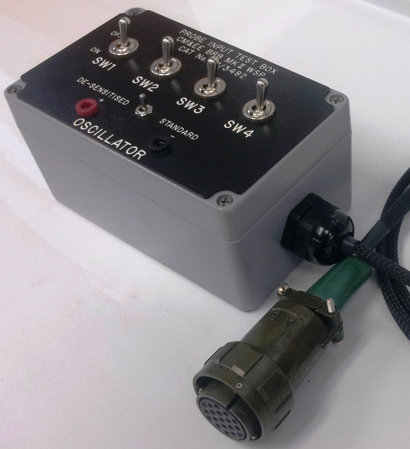 Probe                     Input Test Box